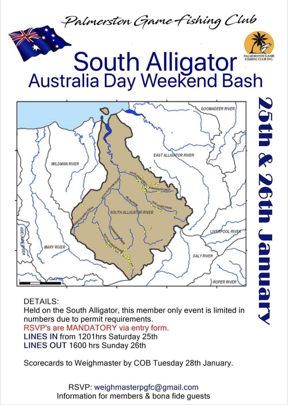 South Alligator – Australia Day Weekend Bash